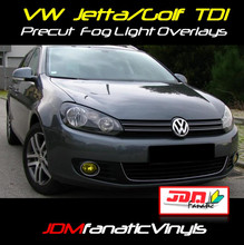 10-12 VW Jetta/Golf MKVI TDI Precut Yellow Fog Light Overlays Tint