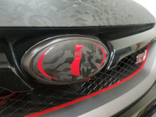 Shadow Black - Emblem Overlays (17-19 Impreza SEDAN 2.0i)