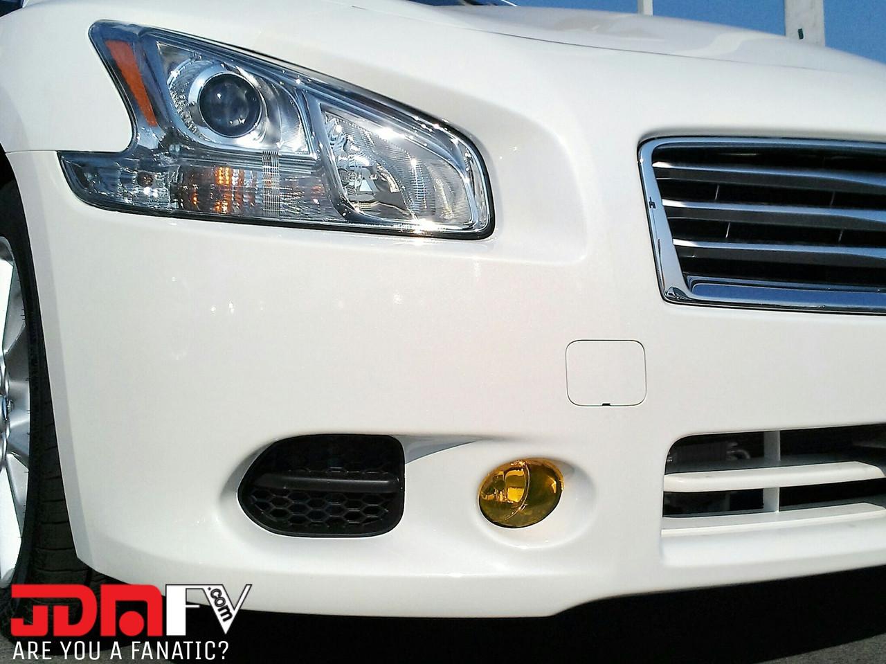 09 12 Nissan Maxima Precut Yellow Fog Light Overlays Tint Saab 9 3 Lights Wiring Diagram Image 1