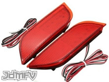 26-LED Rear Bumper Reflectors / Brake Lights / Turn Signals / Rear Fog Light - RED