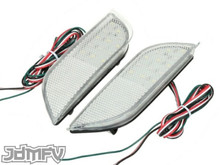 26-LED Rear Bumper Reflectors / Brake Lights / Turn Signals / Rear Fog Light - CLEAR