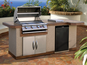 Cal Flame Kitchen Barbecue Island Outdoor Kitchen BBQ 820 - San ...