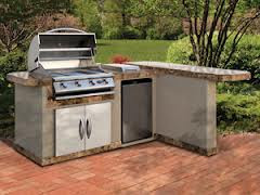 Cal Flame Kitchen Barbecue Island Outdoor Kitchen BBQ 830