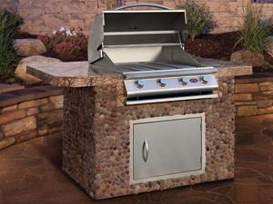 Cal Flame Kitchen Barbecue Island Outdoor Kitchen BBQ 610
