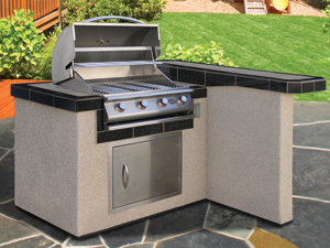Cal Flame Kitchen Barbecue Island Outdoor Kitchen BBQ 401