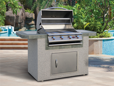 Cal Flame Kitchen Barbecue Island Outdoor Kitchen BBQ 601