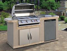 Cal Flame Kitchen Barbecue Island Outdoor Kitchen BBQ 701
