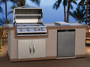 Cal Flame Kitchen Barbecue Island Outdoor Kitchen BBQ 801
