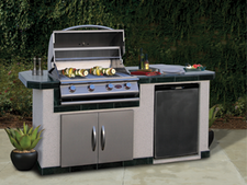Cal Flame Kitchen Barbecue Island Outdoor Kitchen BBQ 710