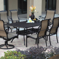 Darlee Monterey Sling Patio Dining Set -Antique Bronze -Seats 6