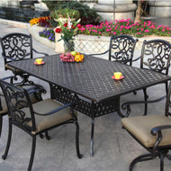 Darlee Santa Monica Patio Dining Set  -Antique Bronze -Seats 6