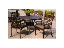 Darlee Santa Monica Patio Dining Set -Antique Bronze -Seats 4