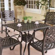 Darlee Nassau Patio Dining Set -Antique Bronze -Seats 4