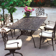 Darlee Catalina Patio Dining Set  -Antique Bronze  -Seats 6