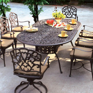Darlee Catalina Patio Dining Set -Antique Bronze  -Seats 8