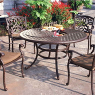 Darlee Santa Monica Patio Dining Set With Ice Bucket Insert -Antique Bronze -Seats 4