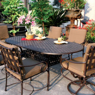 Darlee Malibu Patio Dining Set -Antique Bronze -Seats 6