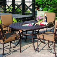 Darlee Malibu Patio Dining Set With Ice Bucket Insert  -Antique Bronzes -Seats 4