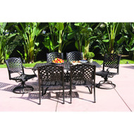 Darlee Nassau Patio Dining Set -Antique Bronze -Seats 6