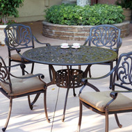 Darlee Elisabeth Patio Dining Set  -Antique Bronze -Seats4