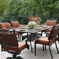 Darlee Charleston Patio Dining Set -Antique Bronze -Seats 6