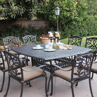 Darlee Santa Monica Patio Dining Set -Antique Bronze -Seats 8
