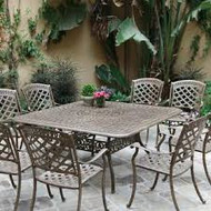 Darlee Sedona Patio Dining Set -Antique Bronze -Seats 8