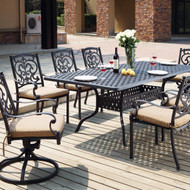 Darlee Santa Barbara Patio Dining Set -Antique Bronze -Seats 8