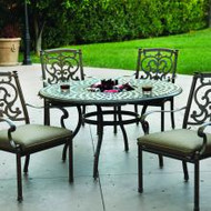 Darlee Santa Barbara Patio Dining Set With Ice Bucket Insert -Mocha -Seats 4