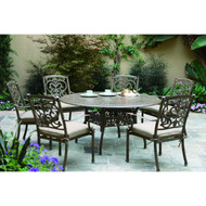 Darlee Santa Barbara Patio Dining Set -Antique Bronze -Seats 6