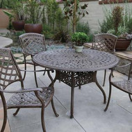 Darlee Sedona Patio Dining Set -Mocha - Seats 4