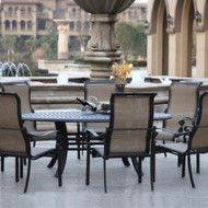 Darlee Monterey Sling Patio Dining Set -Antique Bronze -Seats 8