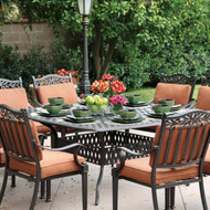 Darlee Charleston Patio Dining Set -Antique Bronze -Seats 8