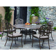 Darlee Florence Patio Dining Set -Antique Bronze  -Seats 6