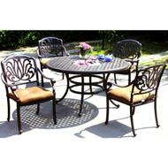 Darlee Elisabeth Patio Dining Set With Ice Bucket Insert -Antique Bronze -Seats 4