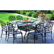 Darlee Catalina Patio Dining Set With Lazy Susan -Antique Bronze -Seats 8