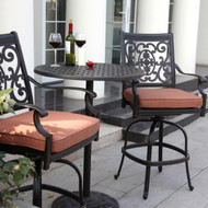 Darlee St. Cruz Patio Counter Height Bar Set -Antique Bronze -Seats 2