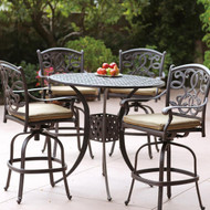 Darlee Santa Monica Patio Bar Set -Antique Bronze -Seats 4