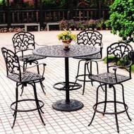 Darlee Catalina Patio Bar Set -Antique Bronze -Seats  4