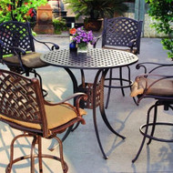 Darlee Nassau Patio Bar Set -Antique Bronze -Seats 4