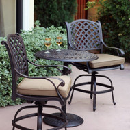 Darlee Nassau Patio Counter Height Bar Set -Antique Bronze -Seats 2