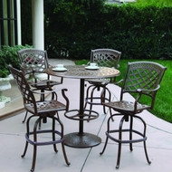 Darlee Sedona Patio Bar Set Mocha -Seats 4