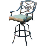 Darlee Ten Star Patio Swivel Bar Stool - Antique Bronze