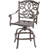 Darlee Santa Monica Counter Height Swivel Bar Stool - Antique Bronze