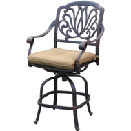 Darlee Elisabeth Counter Height Swivel Bar Stool -Antique Bronze