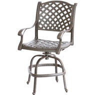 Darlee Nassau Patio Counter Height Swivel Bar Stool - Antique Bronze