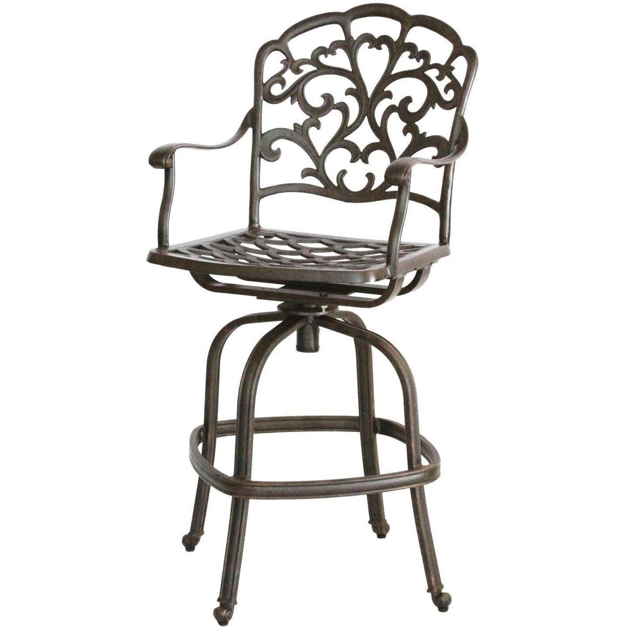 Picture of: Darlee Catalina Patio Swivel Bar Stool Antique Bronze San Diego Spa Patio