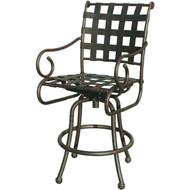 Darlee Malibu Patio Swivel Bar Stool - Antique Bronze