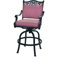 Darlee Charleston Patio Swivel Bar Stool - Antique Bronze