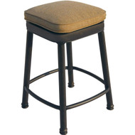 Darlee Square Backless Counter Height Bar Stool - Antique Bronze